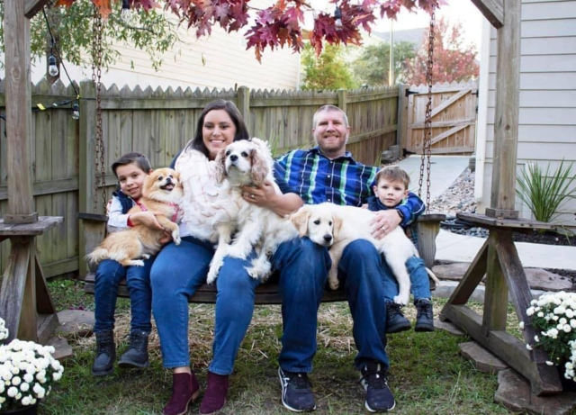 LeRoy (picture from left to right with Bentley, Mollie, Beth, Charlie, Josh, LeRoy and Finn)  - Submitted by Joshua Agner, Office of Business Services