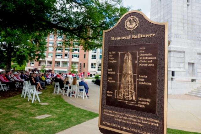 Memorial Belltower dedication ceremony held on May 14